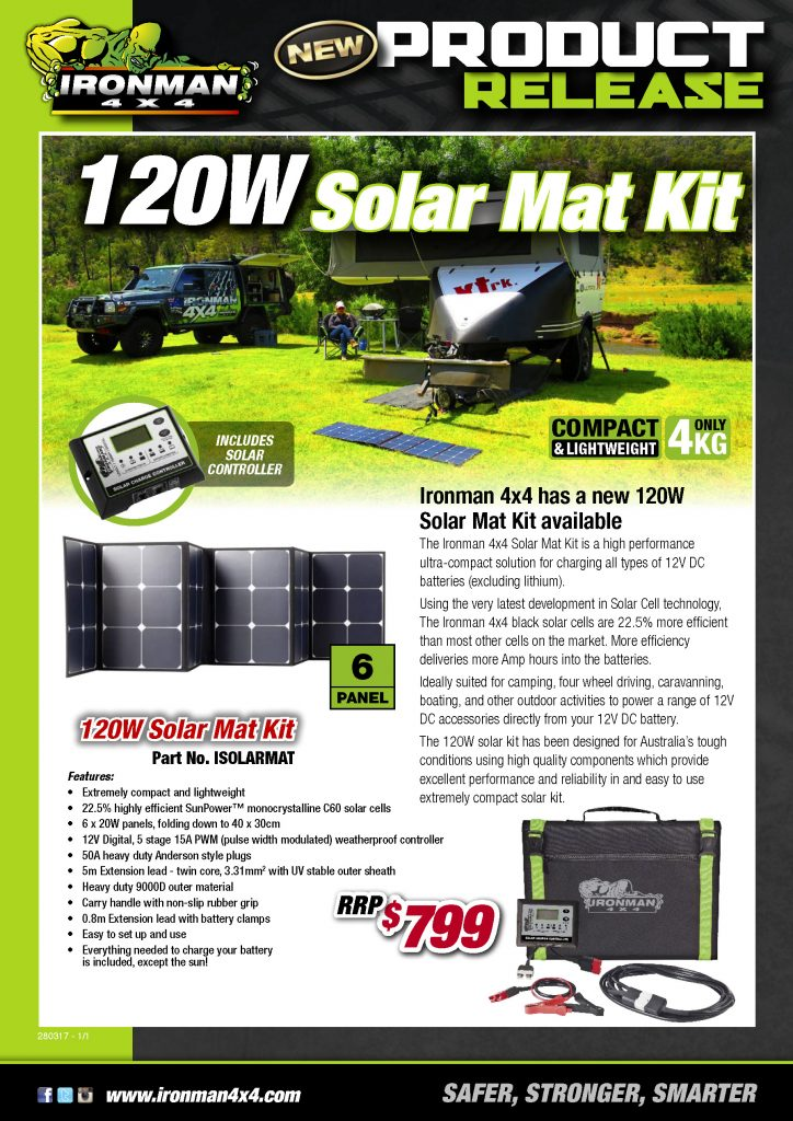 120W Solar Mat Kit Product Release - RRP